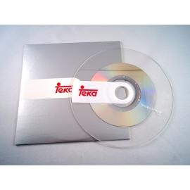 CD transparente manipulado en sobre cartón Teka