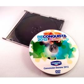 CD - DVD en estuche Slim Box bandeja transparente