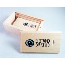 PACK USB Magnet & Caja de madera deslizante