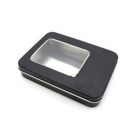 Caja de metal con ventana MINI negra