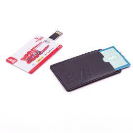 Funda piel memoria USB