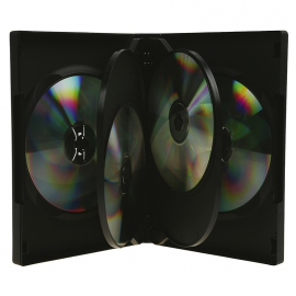 Caja 6 DVD negra