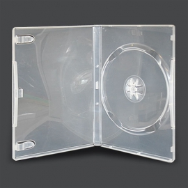 Caja DVD para un disco calidad alta transparente