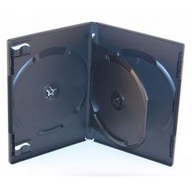 Caja 3 DVD negra calidad alta