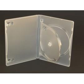 Caja 3 DVD transparente calidad alta